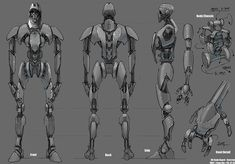 Robots, Droids - Feng Zhu Design ✤ || CHARACTER DESIGN REFERENCES | キャラクターデザイン |