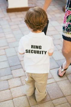 """so cute!!!! need 2 have a little boy ring """"security guard"""" will pull one of the street if i need 2... :)"""