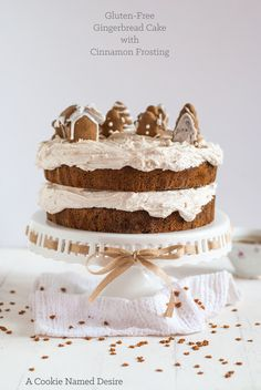 Gingerbread Cake with cinnamon buttercream (gluten free)