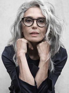 aging gracefully Healthy and shiny hair is something most of us want to achieve and I am often asked for styling advice and tips. Whether you are blonde, brunette, have short or long Grey Hair Over 50, Long Gray Hair, Curly Gray Hair, Grey Wig, Hairstyles Over 50, Trendy Hairstyles, Black Hairstyles, Frontal Hairstyles, Medium Hairstyles