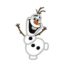 Frozen Snowman Applique Embroidery Design 5x7 8x8 6x10 Olaf INSTANT DOWNLOAD on Etsy, $4.00