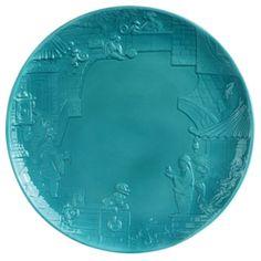 Jean Boggio China Impression Dessert (Turquoise). Biggs Ltd. Gallery. Heirloom Quality Bridal and home decor. 1-800-362-0677. $142. China, Turquoise, Dessert, Bridal, Gallery, Tableware, Home Decor, Jewel Box, Art