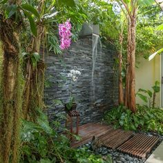 "Garden Graffiti (Part 7): ""Rain Dance"" (Outdoor Shower Garden Inspirations)"