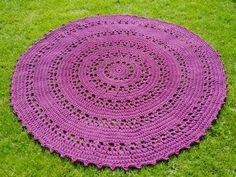 Crochet carpet. Diameter about 160 cm.