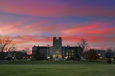Burruss Hall sunset time stack. Virginia Tech. #VirginiaTech #BurrussHall