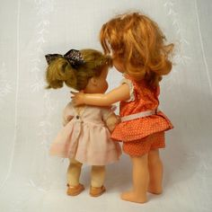 Early1970s Ideal Cinnamon Original Outfit & Littlest Angel Type Walker Sister #DollswithClothingAccessories