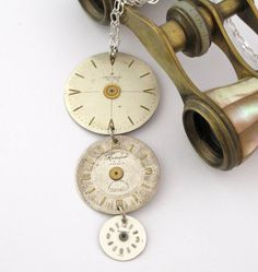 Simple Steampunk Vintage Watch Dials Necklace Designed by Mystic Pieces