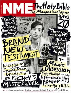 Another one from NME. Again, the magazine title stand out amid the chaos. The fonts are very scribbly but work well for a magazine such as this.