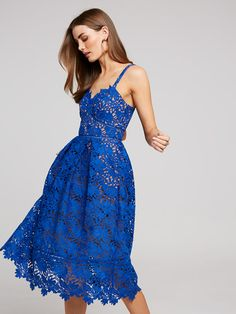 Image for Sadie Full Lace Dress from Portmans Size 14 Dresses, Dresses Online, Blue Dresses, Summer Dresses, Maxi Dress With Sleeves, Tulle Dress, Lace Dress, Jumpsuit Dress, Fit Flare Dress