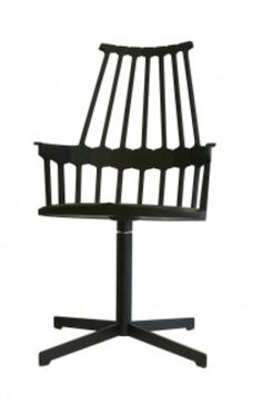 From GDUKStyle.com Contemporary feature: Patricia Urquiola's design is a modern take on the classic 18th Century Windsor chair. The single mould plastic chair comes in 4 different styles, seen here with a swivel base  and is available in 6 different colours. Dimensions H 100 cm x W 58 cm x D 50 cm (seat height 48.5 cm). £372 from www.ariashop.co.uk.