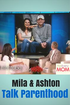 Ashton Kutcher and Mila Kunis are the cutest celebrity parents! Love this cute story Mila tells Ellen about Ashton as a dad.