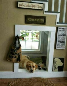 Great idea for inside den if we have stairs!