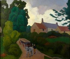 Robert Bevan.  Colehill, Devon No 1. 1924. Cole Hill Farm, Luppitt, Devon. One of his last paintings. Showing the freer handling and elegance which marked the last year or two of his life.