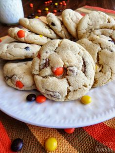 The Perfect Cookie Base - Peanut Butter Cup Reeses Pieces Cookies