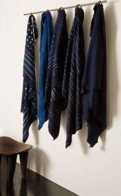 indigo bedcovers + pillows - textile