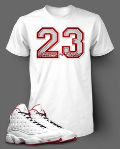 36355255cbca5e 23 Graphic T shirt To match Air Jordan 13 History of Flight shoe Men s Tee  Shirt