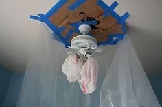 Painting a ceiling fan (without removing it!) – From A Little Bit of Sanity and A Lot of Chaos