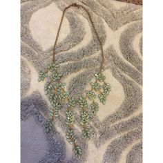Spotted while shopping on Poshmark: Green leaf statement necklace! #poshmark #fashion #shopping #style #Lucky Brand #Jewelry