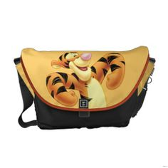 Shop Tigger 2 messenger bag created by winniethepooh. Personalize it with photos & text or purchase as is! Beautiful Handbags, Beautiful Bags, Cute Purses, Purses And Bags, Tigger Winnie The Pooh, Tigger Disney, Eeyore, Pooh Bear, Pack Your Bags