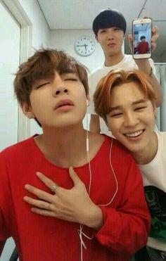 ♥ Bangtan Boys ♥ Taehyung & Jimin & J hope ♥ Park Ji Min, Foto Bts, Jung Hoseok, K Pop, Sunshine Line, Saranghae, Boy Band, Bts Vmin, Les Bts