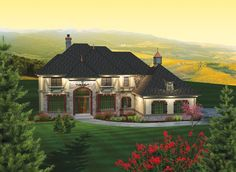 ePlans European House Plan – Impressive Elegance – 3843 Square Feet and 5 Bedrooms from ePlans – House Plan Code HWEPL75842