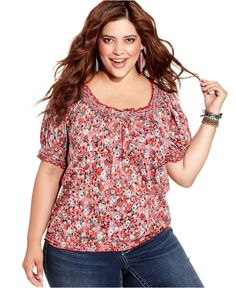 ing plus size top, long-sleeve faux-leather-cross - plus size tops