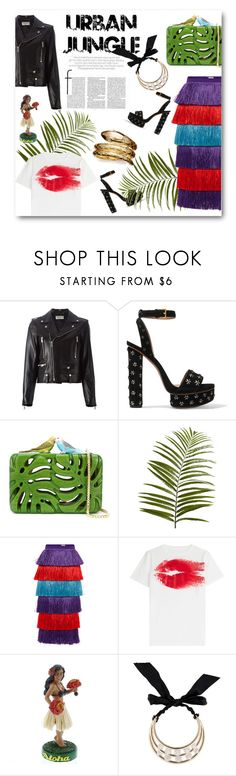 """City Jungle"" by letmedress ❤ liked on Polyvore featuring Yves Saint Laurent, Alaïa, Sarah's Bag, Pier 1 Imports, Stella Jean, Maison Margiela, Lanvin and Temple St. Clair"