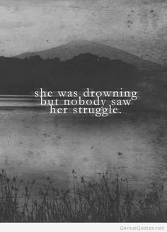 Drowning awesome quote