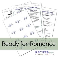 1 Pack Ready for Romance: Make & Take Party Printable Pack (4 recipes)