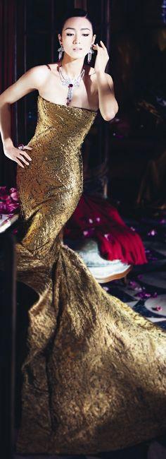 Black tie affair:  Stunning Gold Gown
