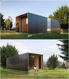 Shipping Container Homes that Promote Green Living Modular Homes, Prefab Homes, Minimalist Architecture, Architecture Design, Casa Patio, Casas Containers, Container Architecture, Micro House, Container House Design