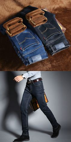 ac53cdba91c Fashion 2017 Autumn Winter Denim Ripped Hole overalls beggar Distressed  thickening jeans men Casual Teenagers Pencil Pants biker