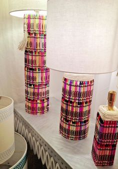 Get creative with these funky Crayon Table Lamps – This would look great in a studio. Warning: Keep away from kids  #lovelighting