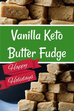 Try this Vanilla Keto Butter Fudge recipe for your Holiday Keto baking! You'll be able to enjoy Keto fudge and not feel left out this holiday season. This easy Keto fudge is a perfect substitute for sugary holiday treats. Keto Holiday, Holiday Recipes, Holiday Treats, Low Carb Desserts, Low Carb Recipes, Keto Candy, Healthy Candy, Keto Fudge, Fudge Recipes