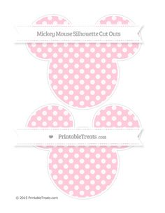 Pink Dotted Pattern  Large Mickey Mouse Silhouette Cut Outs