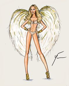 VS Fashion Show 2014 'Gilded Angels' : Doutzen Kroes by Yigit Ozcakmak
