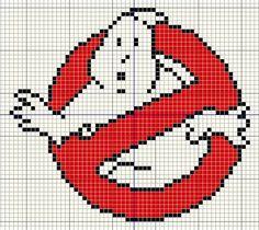 Buzy Bobbins: Ghostbusters logo Cross stitch design