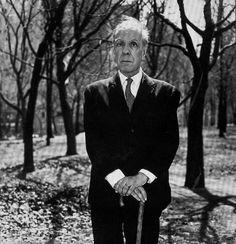 Jorge Luis Borges en el Central Park, 1968 (Diane Arbus)