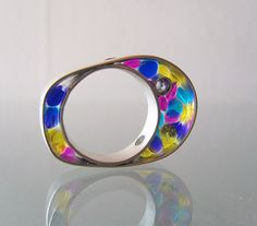 Silver Resin Ring Saborizante by formasag on Etsy, €65.00