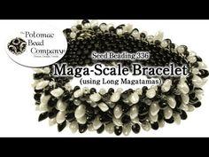 Maga-scale Bracelet (With Miyuki Long Magatamas) - YouTube