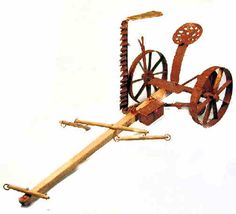 Hay mower - $235.00 : S P MINIATURES - hand crafted dollhouse miniatures, S P MINIATURES - shop online for dollhouse miniatures