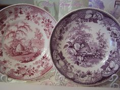 Staffordshire Beehive Bee Skep pattern plates