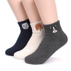 Dog Ankle Middle Cut Women's Socks Pack of 5pairs Made in Korea Socks JN #ggorangnae #Everyday