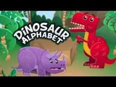 Dinosaur Alphabet Song - Kids learn the ABCs with T-Rex and other fun dinosaurs. T-Rex does tear up a bit but my nephews 1 and 2 don& notice and they love it! Dinosaur Theme Preschool, Dinosaur Alphabet, Dinosaur Activities, Dinosaur Crafts, Preschool Songs, Alphabet Activities, Preschool Learning, Early Learning, In Kindergarten