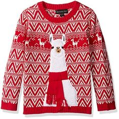 """Product review for Blizzard Bay Boys' Llama Xmas Sweater.  Blizzard Bay boys' long sleeve crew neck llama Christmas pullover sweater       Famous Words of Inspiration...""""Adventure is worthwhile.""""   Amelia Earhart — Click here for more from Amelia..."""