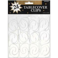 Tablecover Clips 24/Pkg, Clear Plastic AMSCAN http://www.amazon.com/dp/B002PICFOE/ref=cm_sw_r_pi_dp_MPKQtb0H80FJK70S