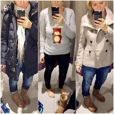 good morning....it's time for Christmas Sweatshirts...today is Shoppingtime... #dreiraumhaus #instashopping #instadaily #becausitsweekend #ootd #christmasfashion #iphone6 #ugg #woolrich #hm