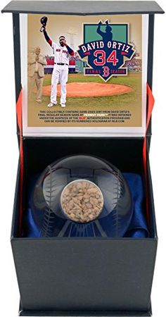 David Ortiz Boston Red Sox Final Regular Season Game Crystal Ball with GameUsed Dirt from Davd Ortizs Final Career Regular Season Game ** You can find more details by visiting the image link.