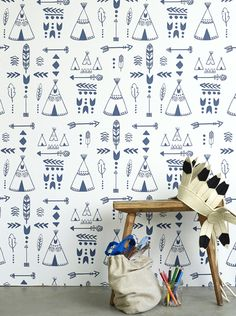 NEW! Teepees wallpaper by Hibou Home