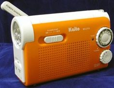 Kaito KA218 Emergency AM/FM Radio by Kaito. $30.75. The Kaito Personal Emergency Radio KA218 is a reliable compact and durable emergency AM/FM radio that can double as a flashlight. It's powered from a built-in power generator or three standard AA batteries. When you are out of power, you can spin the hand crank, a mini power generator, for more juice. With 120 spins in one minute, you can generate enough power for 40 minutes of FM radio receiving, 60 minutes of ...